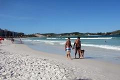 Praia do Forte, em Cabo Frio, está
