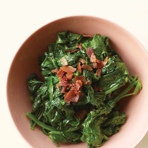 Sauteed Spinach with Crisp Pancetta