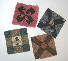 miniature quilt sampler blocks 1