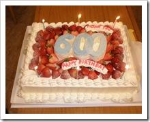 60歳お祝いのケーキ