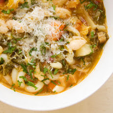 Hearty Winter Minestrone with Chili Oil, Lemon Zest, and Parmesan