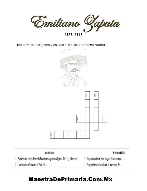 EJERCICIO DE LA BIOGRAFIA PARA NIÑOS DE EMILIANO ZAPATA