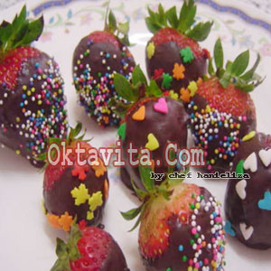 Resep Strawberry Cokelat
