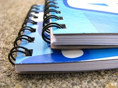 alphabits notebook closeup