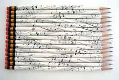 sheet music pencils