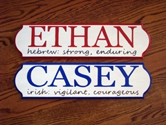 name plaques ethan&casey