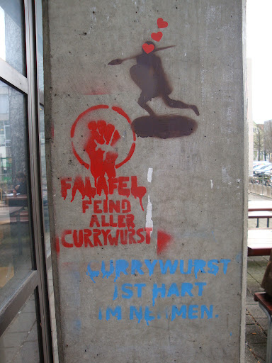 Falafel is the Enemy of all Currywurst