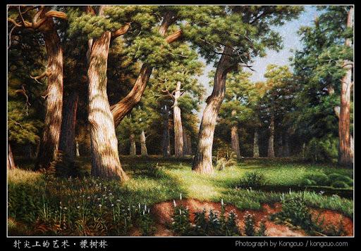刺绣-橡树林