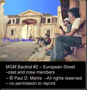 "MGM Backlot #2 -- European Street --""Show Biz"""