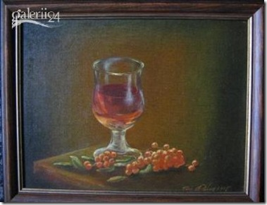 Rowan wine painting