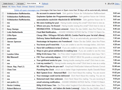 Meine SPAM E-Mails