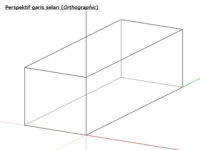 perspektif garis selari (orthographic)
