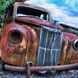 Old Girl by Carole Pallier Cazzazsnapz - Transportation Automobiles ( car, olden, vintage, automobile, rusty )