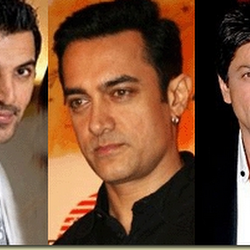 John Abraham with Shahrukh and Aamir