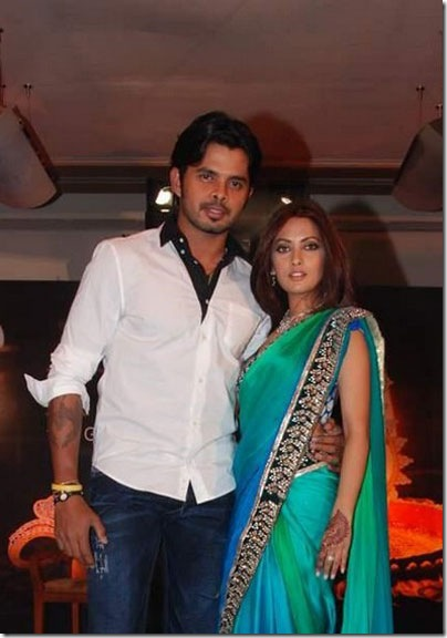 Sreesanth and Riya Sen at Gitanjali's Rivaaz collection stills