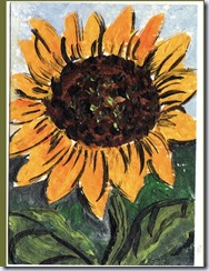heronkate sunflower aceo