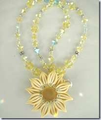 swarvoski necklace yellow magdalene jewels