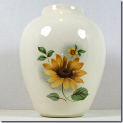 jillstreasurechest ceramic sunflower vase