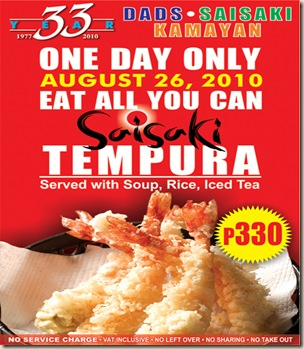 tempura eat all you can!