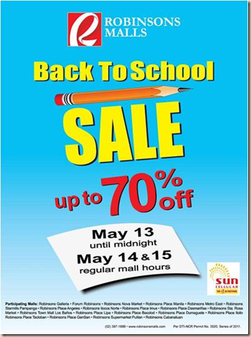 Robinsons May Sale