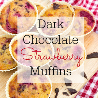 Dark Chocolate Strawberry Muffins