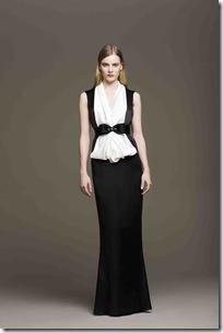 Vestido longo em cetim bicolor_R$3.960