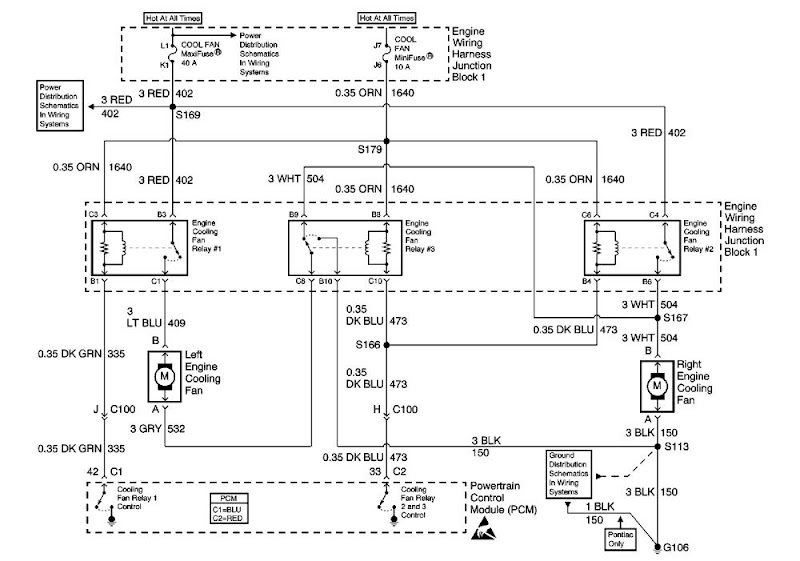 ls1 cooling fan operation how should they work third generation rh thirdgen org  ls1 fan relay wiring diagram