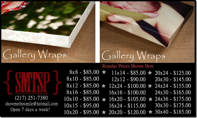 gallery wrap prices