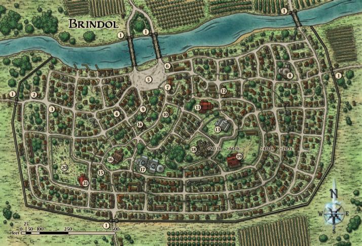 Brindol map