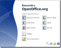 Aspecto de la suite OpenOffice