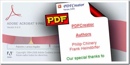 Adobe Acrobat frente a PDFCreator