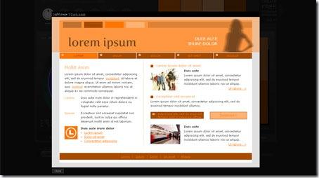 Web de ejemplo de Color Sheme Designer