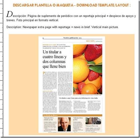 Maquetador-online.net, página de descarga de las plantillas