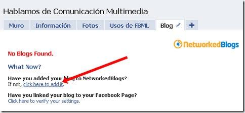 Añadir nuestro blog a NetworkedBlogs