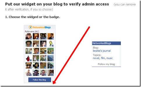 colocar widget de networkedblogs en nuestro blog