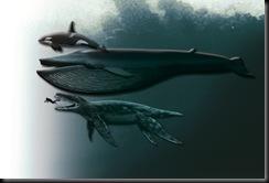 Orcax Baleia Azul x humano x pliossauro O MONSTRO