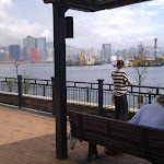 Hongkong Park mit Blick auf Hafen