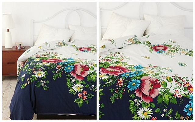Urban Outfitters Floral Divide Duvet Cover