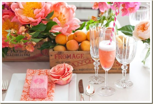 Coral Charm Peony Party Inspiration 2