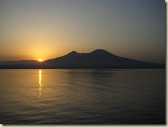 Sunrise over Mt Vesuvius