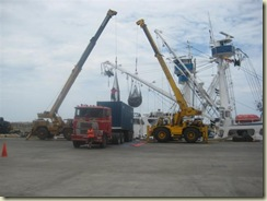 Tuna being loaded from ship to Trucks (Small)