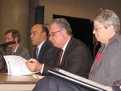 Del. Carr and others testifying at last year's local bill hearing