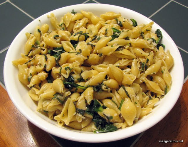 Browned Butter Pasta with Tatsoi