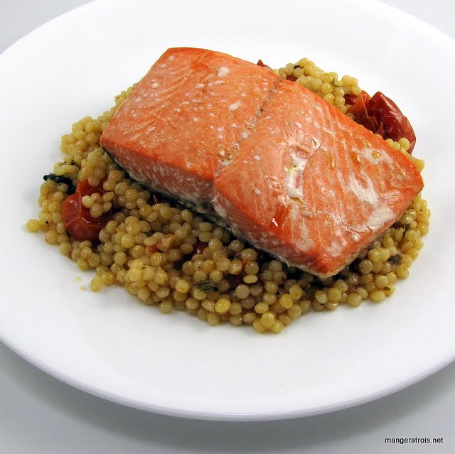 Lemon - Oregano Salmon With Roasted Tomatoes Recipe — Dishmaps