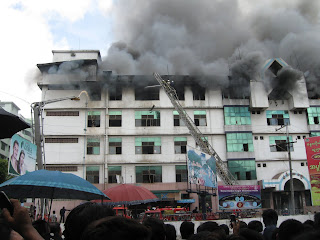 >Than Soe Hlaing – Electricity Outage – a cause of fire outbreak in Mingalar Zay