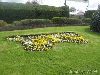 butterfly flowerbed