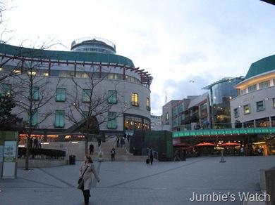 Rear of the Bullring mall at 6:30 PM
