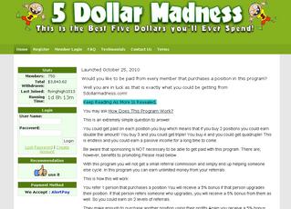 5 Dollar Madness Money