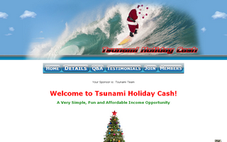 Tsunami Holiday Cash Money