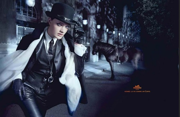 Constance Jablonski for Hermes Fall Winter Campaign 03